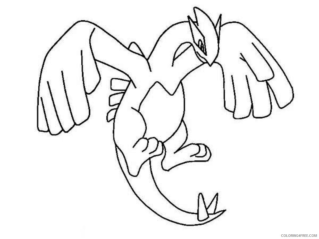 legendary pokemon coloring pages lugia Coloring4free