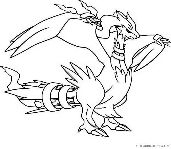 legendary pokemon coloring pages reshiram Coloring4free
