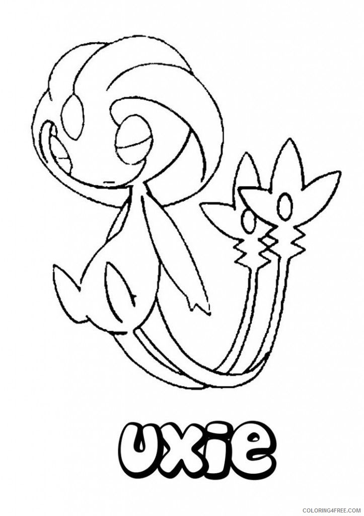 legendary pokemon coloring pages uxie Coloring4free