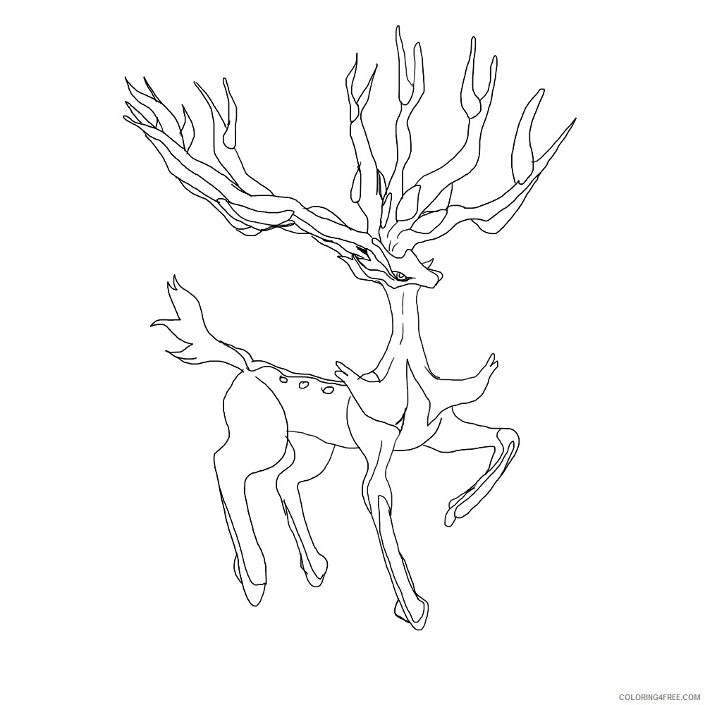 legendary pokemon coloring pages xerneas Coloring4free