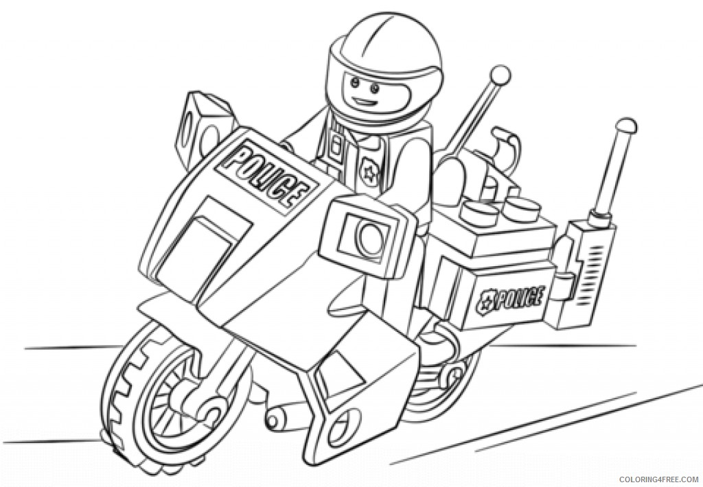 lego police coloring pages Coloring4free