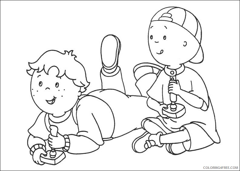 leo and caillou coloring pages Coloring4free