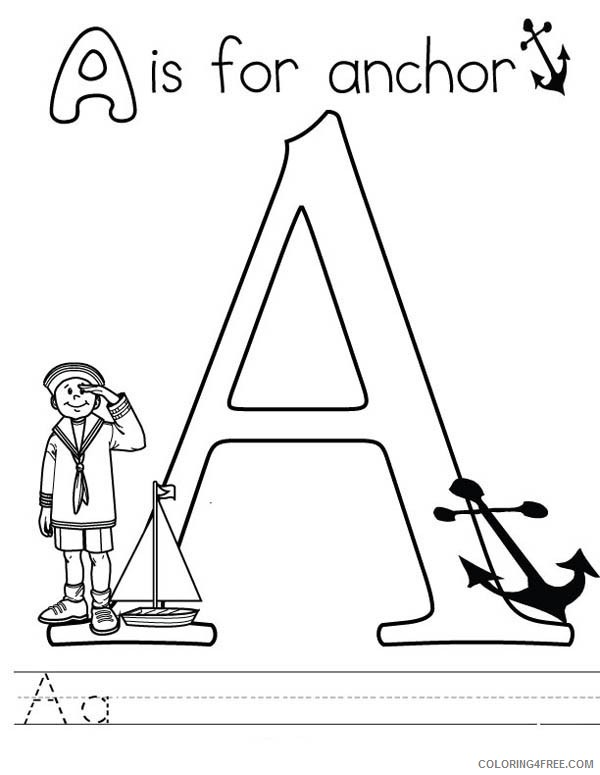 letter a coloring pages a for anchor Coloring4free
