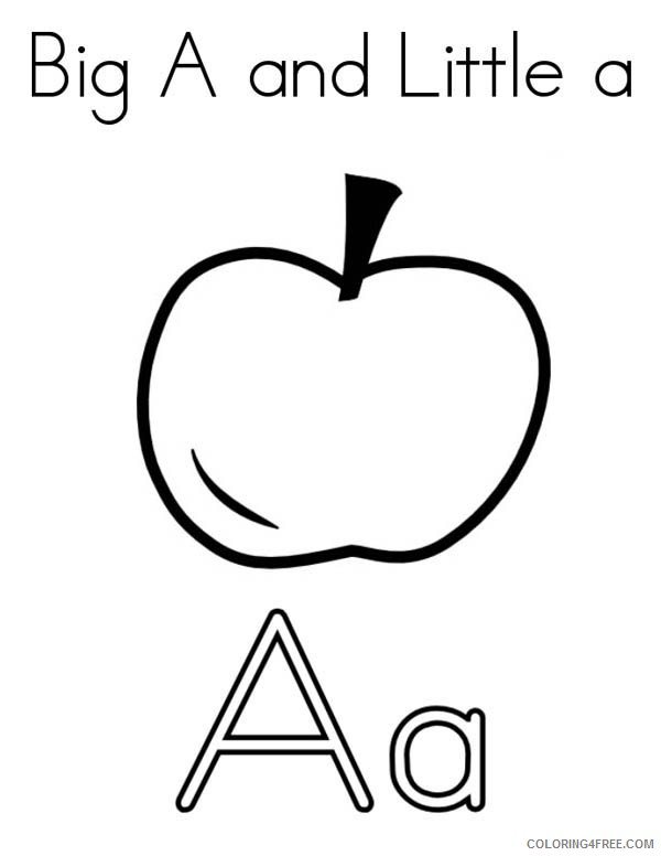 letter a coloring pages a is for apple Coloring4free