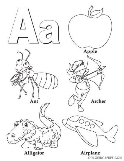 letter a coloring pages all starts with a Coloring4free