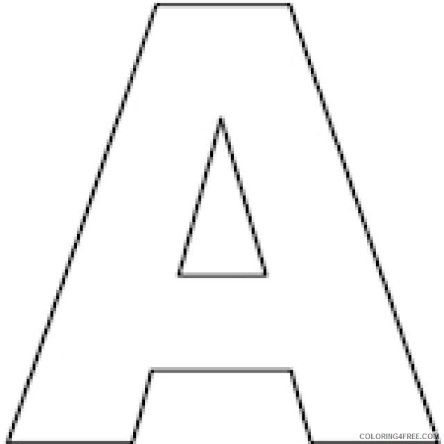 letter a coloring pages for preschooler Coloring4free