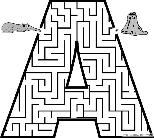 letter a coloring pages printable free Coloring4free