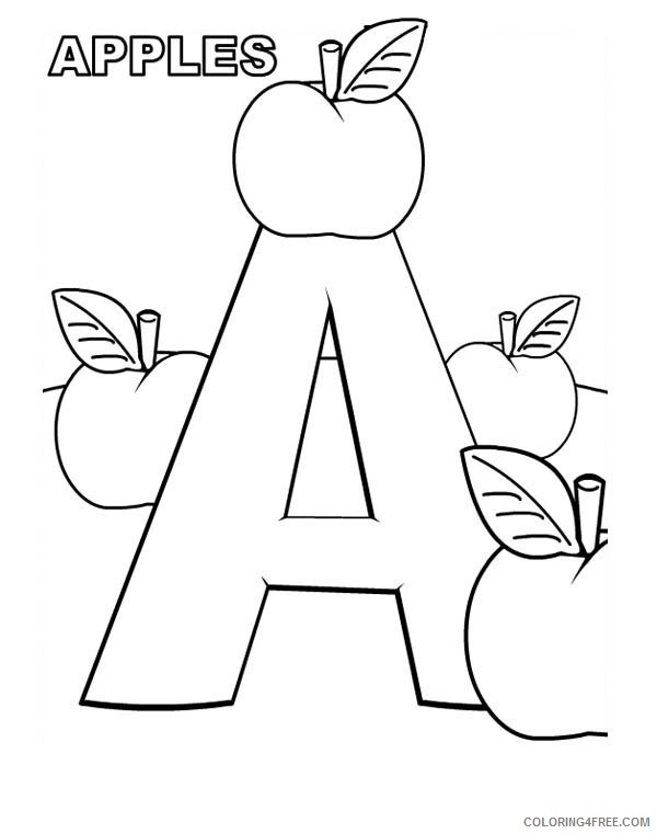 letter a coloring pages to print Coloring4free