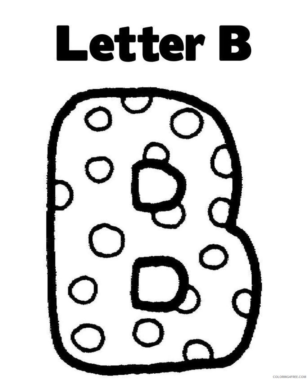 letter coloring pages for preschool Coloring4free