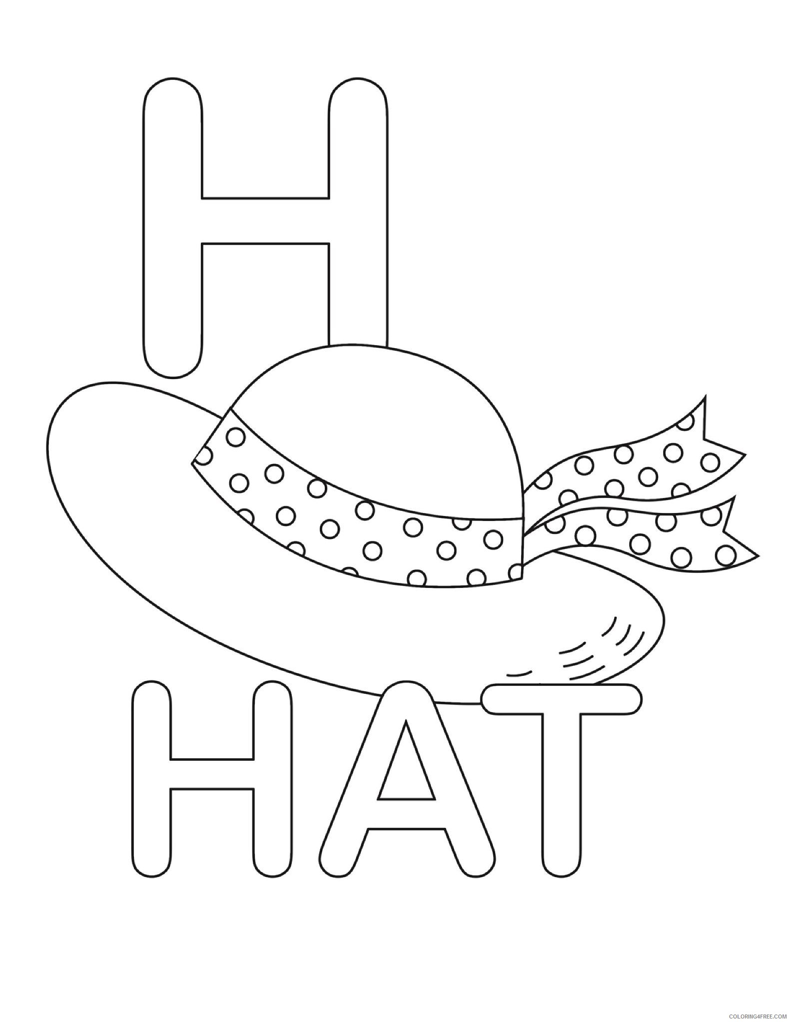 letter coloring pages h for hat Coloring4free