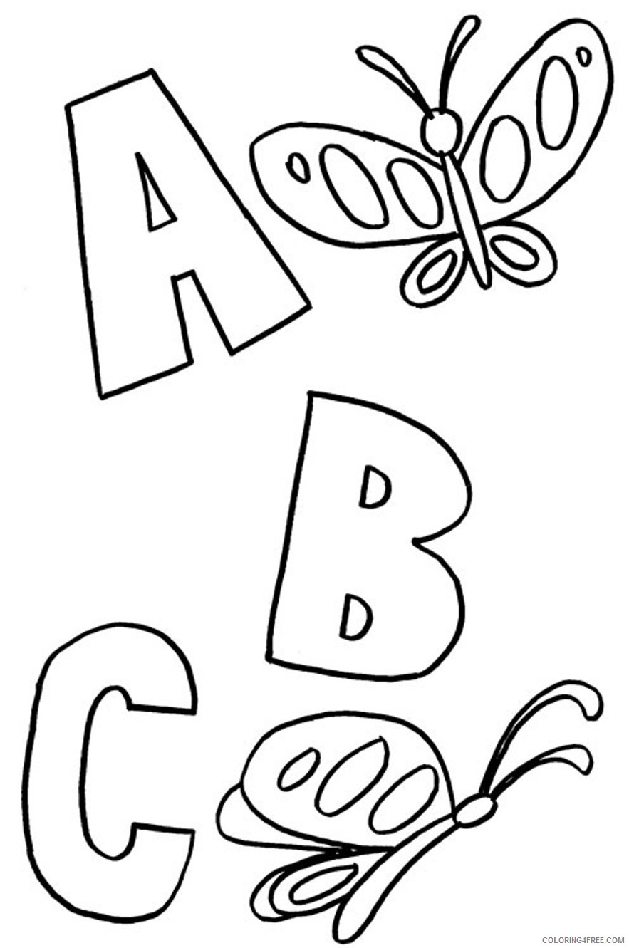 letter coloring pages to print Coloring4free