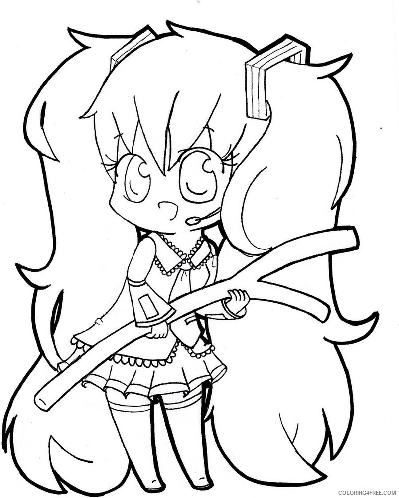lisa frank coloring pages anime girl Coloring4free