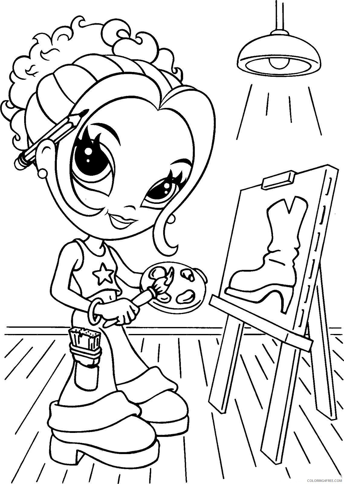 lisa frank coloring pages girl painting Coloring4free