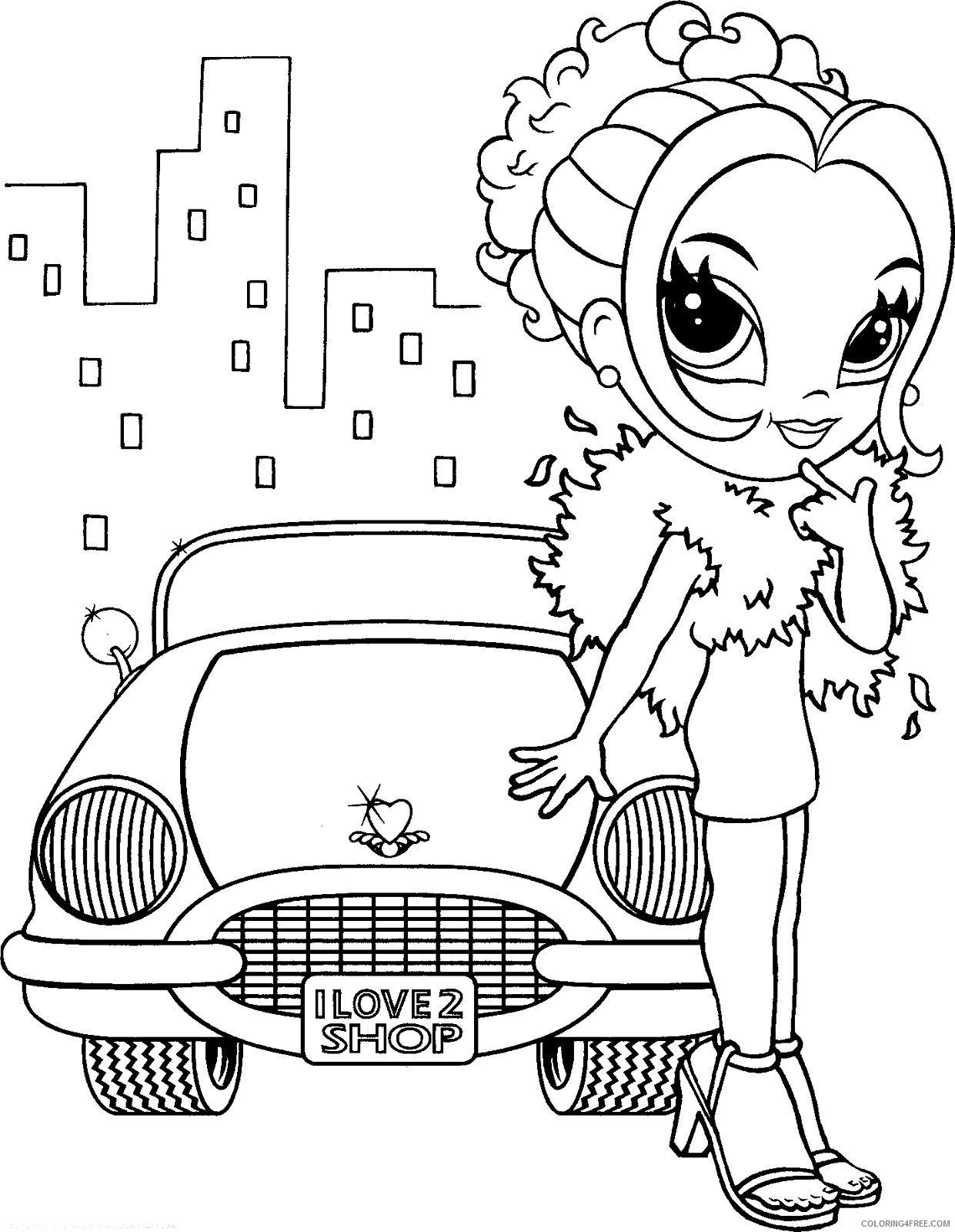 lisa frank coloring pages girl with car Coloring4free