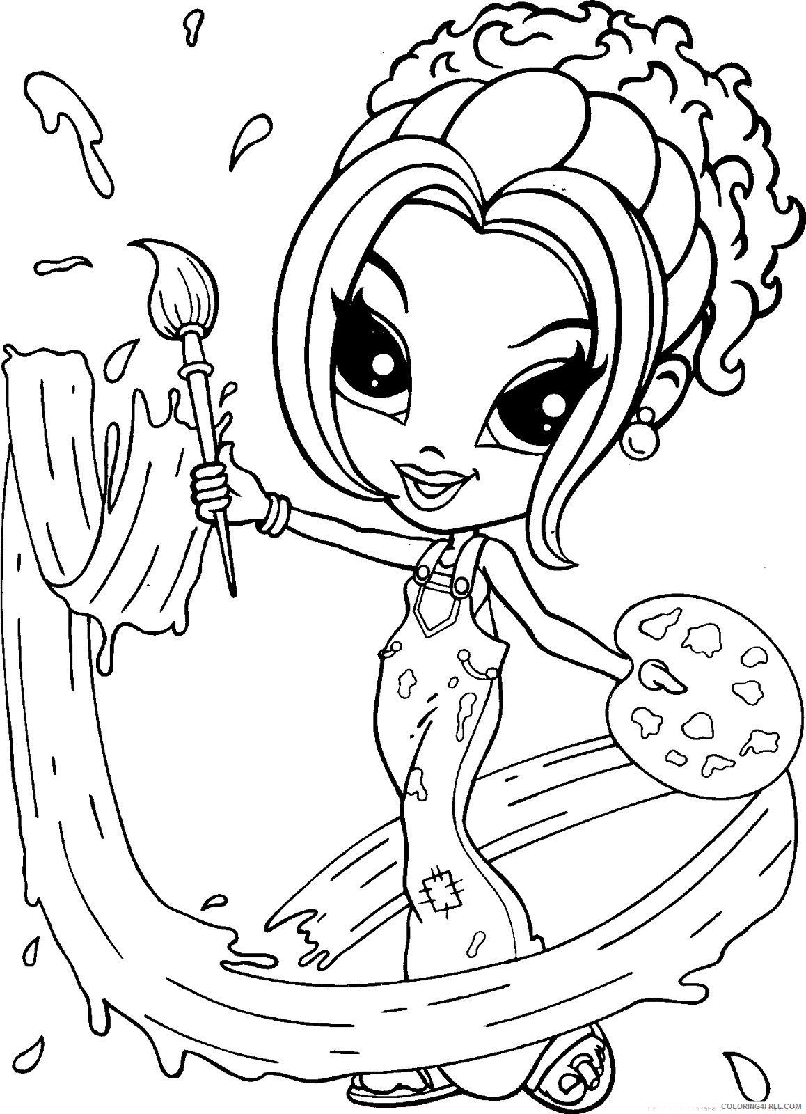 lisa frank coloring pages painter girl Coloring4free