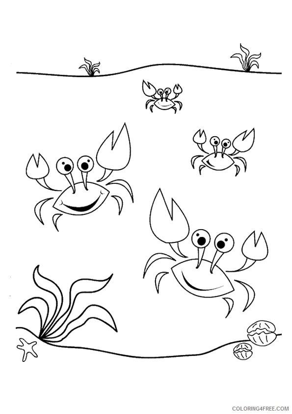 little crab coloring pages for kids Coloring4free
