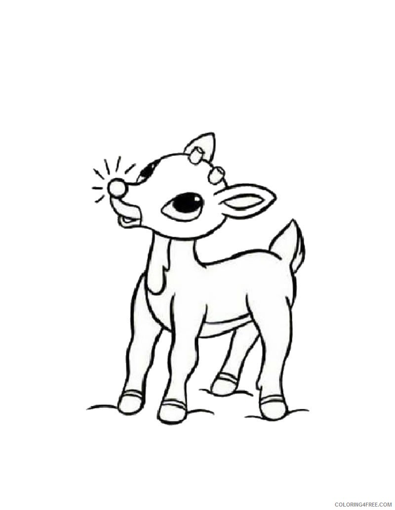 little reindeer coloring pages Coloring4free