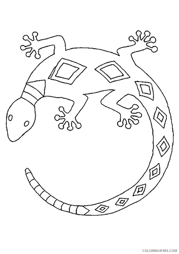 lizard coloring pages printable Coloring4free