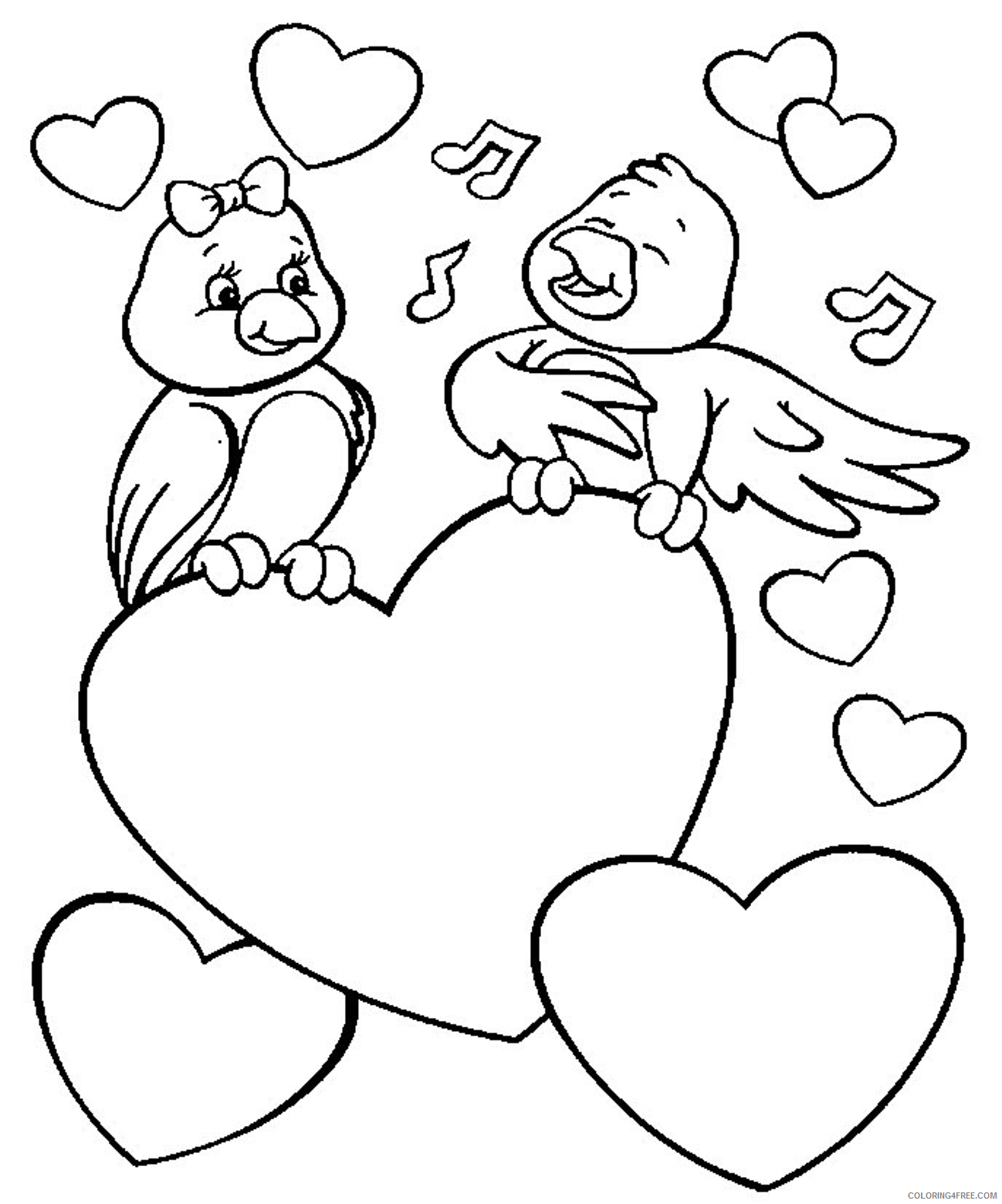 love coloring pages birds in love Coloring4free