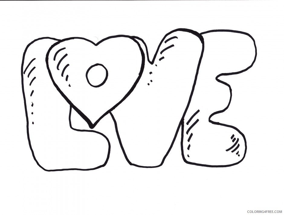 love coloring pages letters Coloring4free