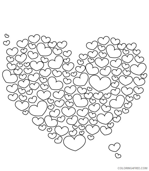 love coloring pages plenty of love hearts Coloring4free