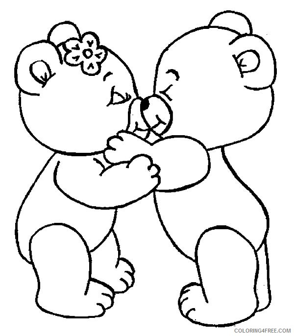 love coloring pages teddy bear love Coloring4free