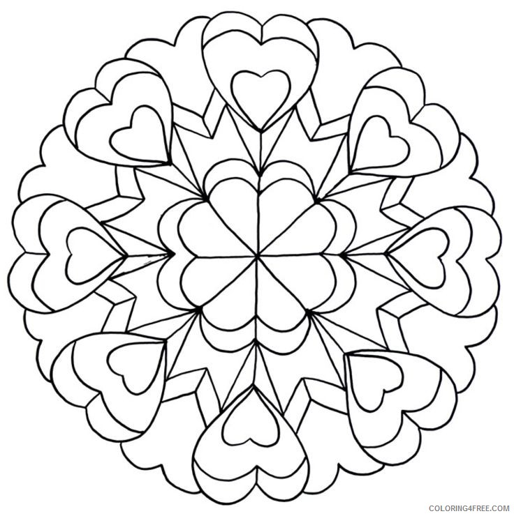 love mandala coloring pages for teens Coloring4free