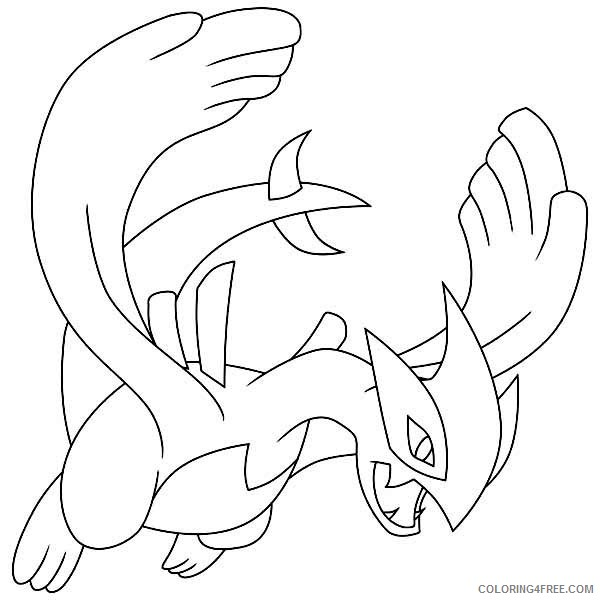 lugia legendary pokemon coloring pages Coloring4free