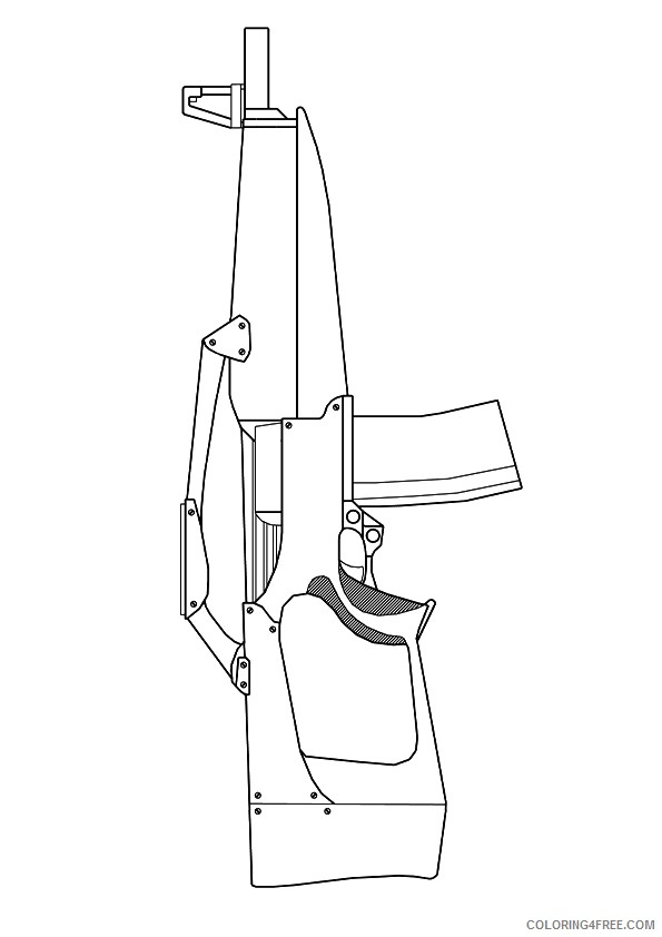 machine gun coloring pages to print Coloring4free
