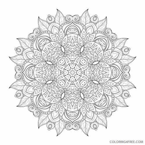 mandala advanced coloring pages Coloring4free