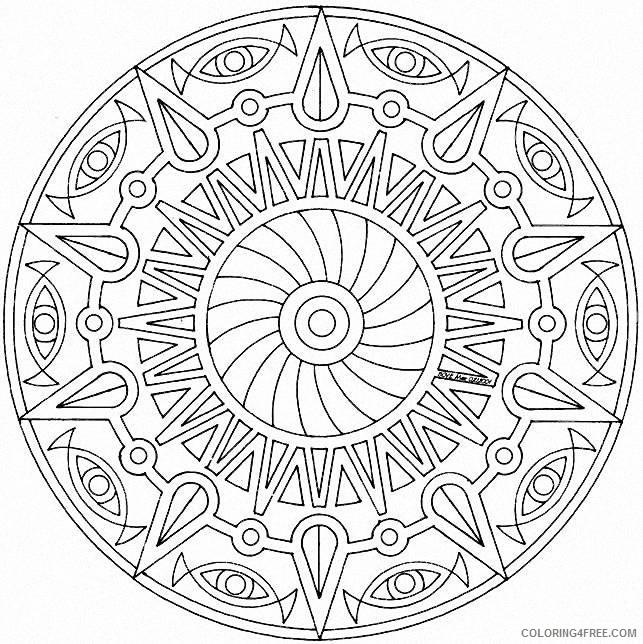 mandala circle coloring pages Coloring4free