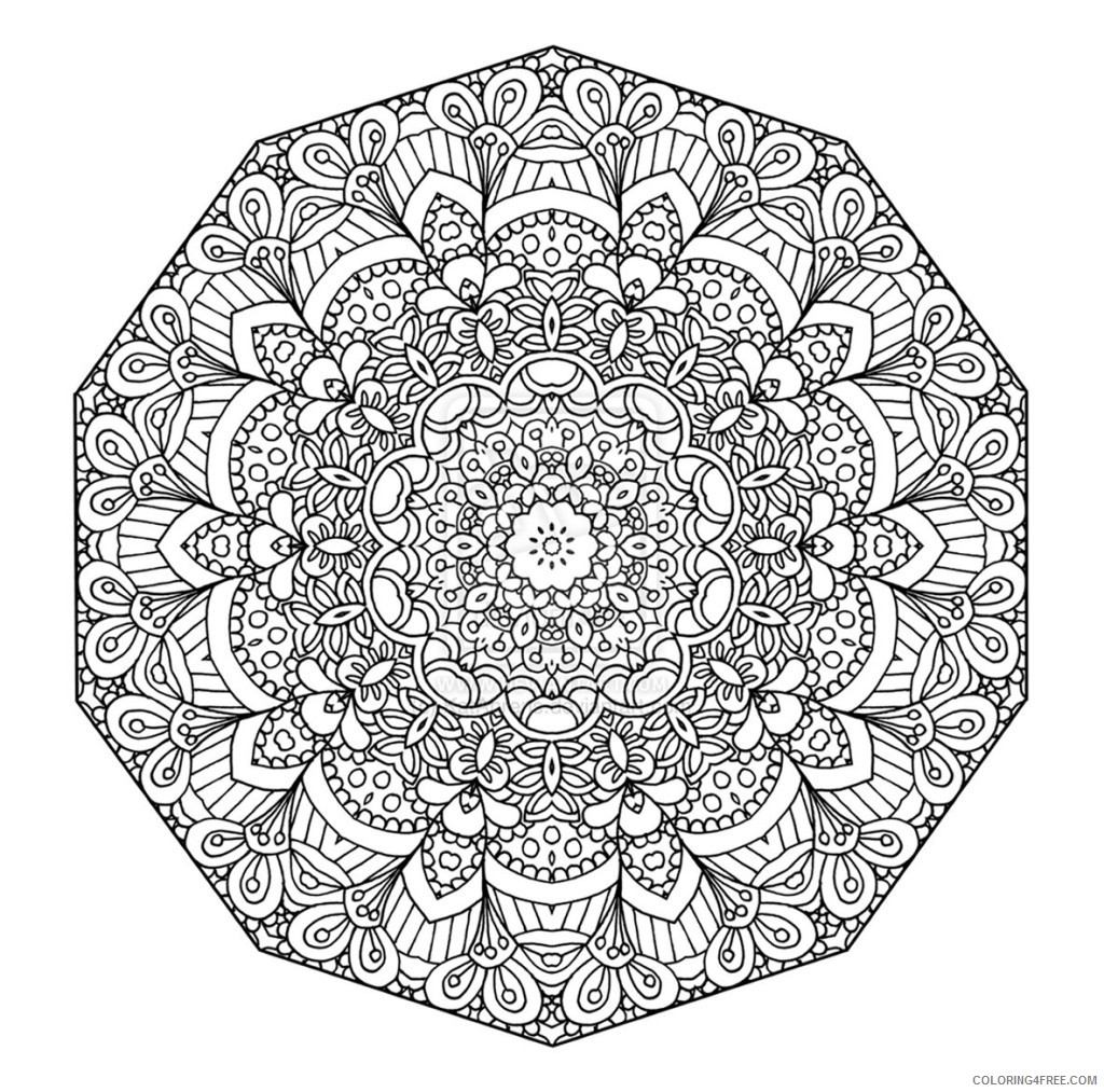 mandala coloring pages difficult Coloring4free