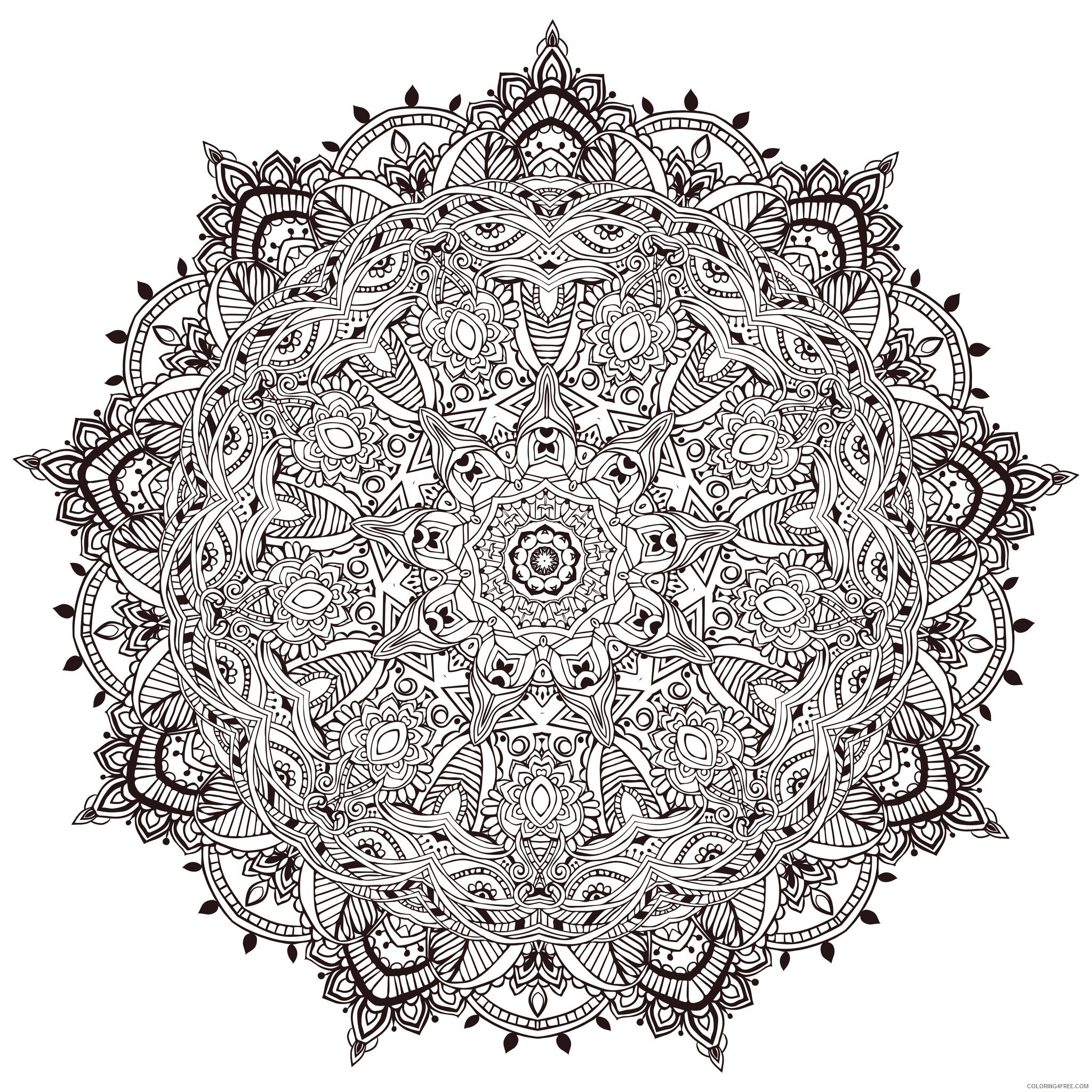 mandala coloring pages difficult for adults Coloring4free