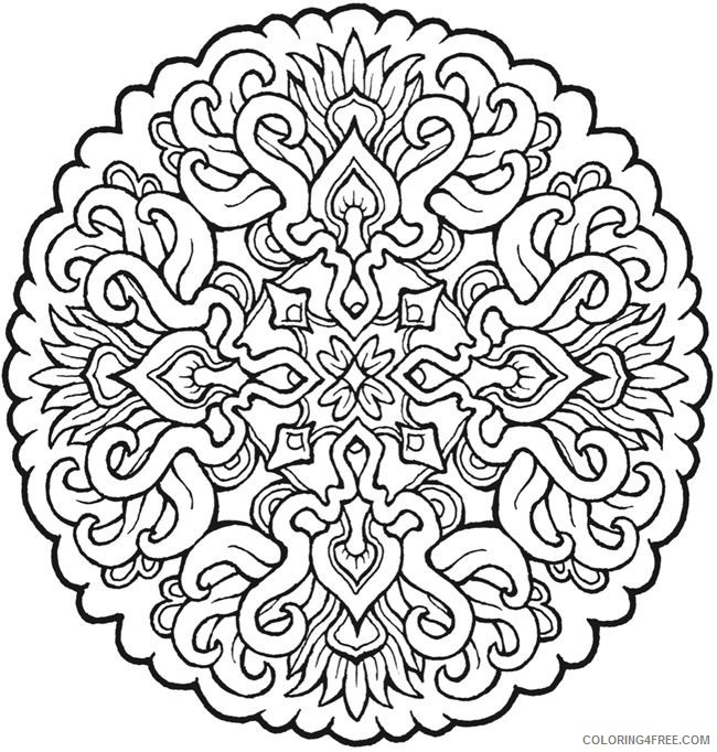 mandala coloring pages for adults Coloring4free