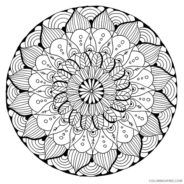 mandala coloring pages for adults printable Coloring4free