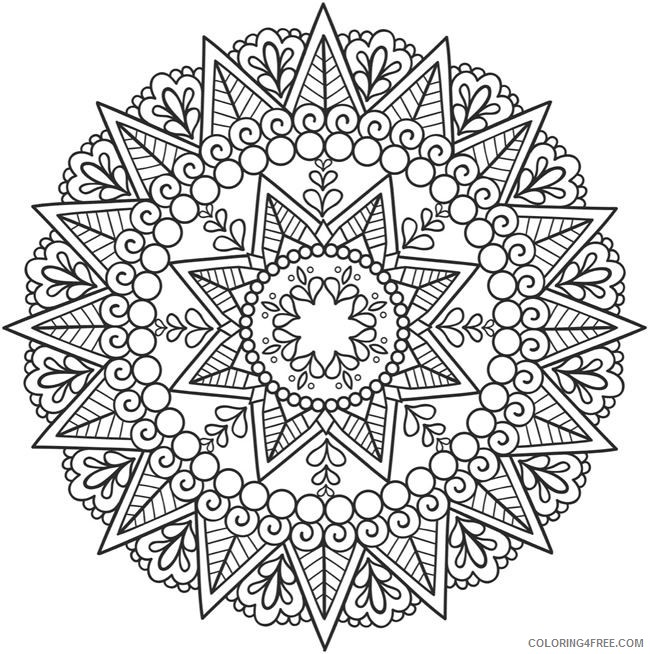 mandala coloring pages for boys Coloring4free