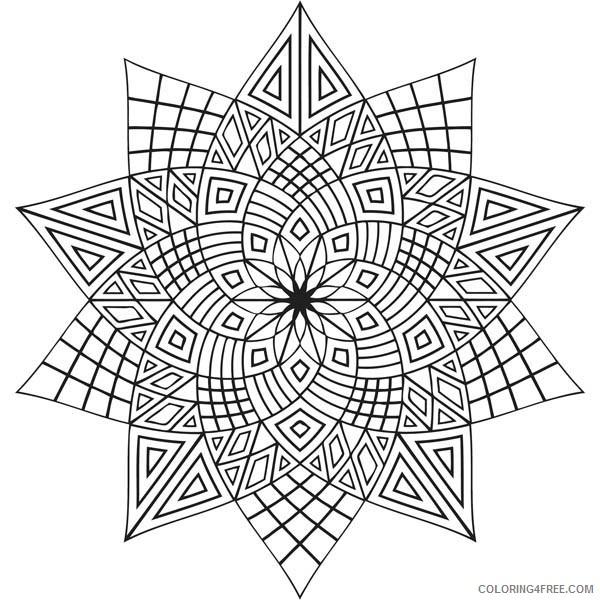 mandala coloring pages lotus flower Coloring4free