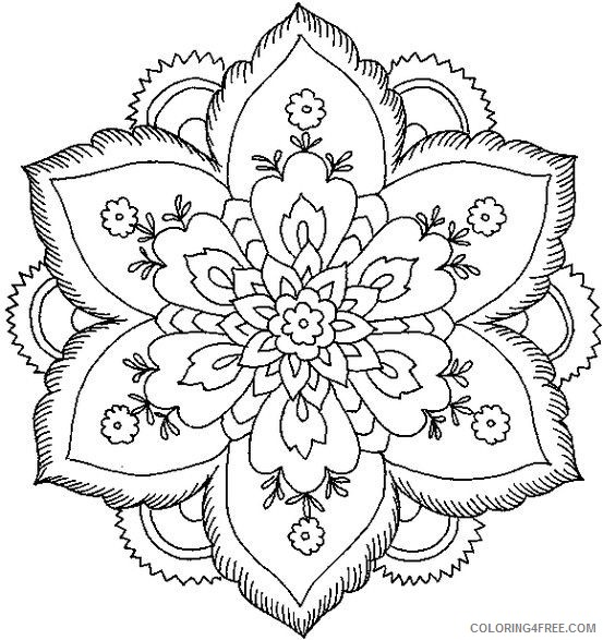 mandala coloring pages of flowers Coloring4free