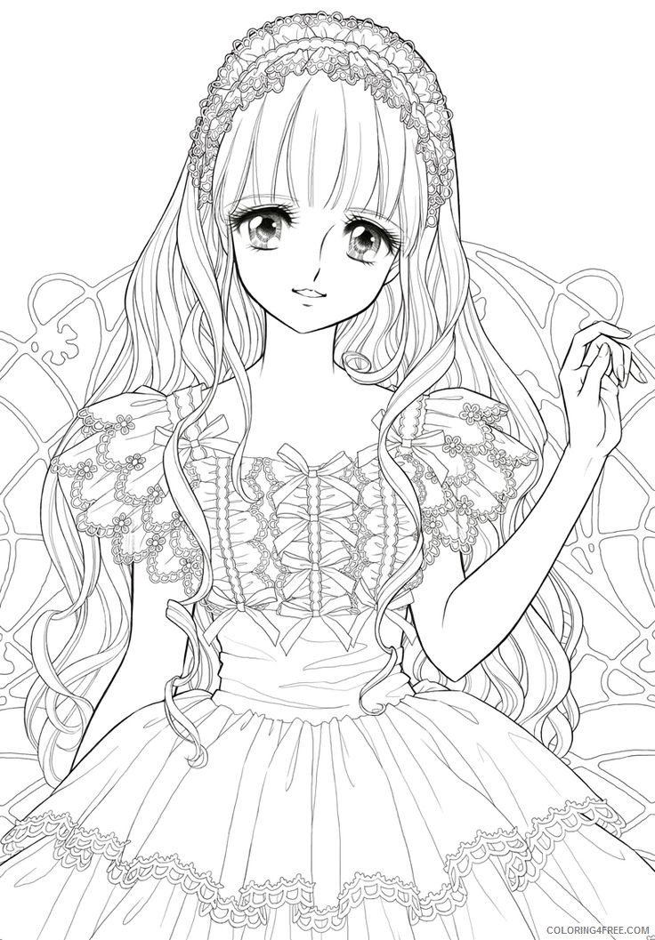 manga coloring pages cute Coloring4free