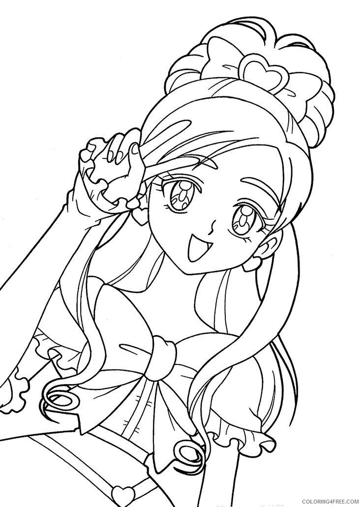 manga coloring pages kawaii Coloring4free