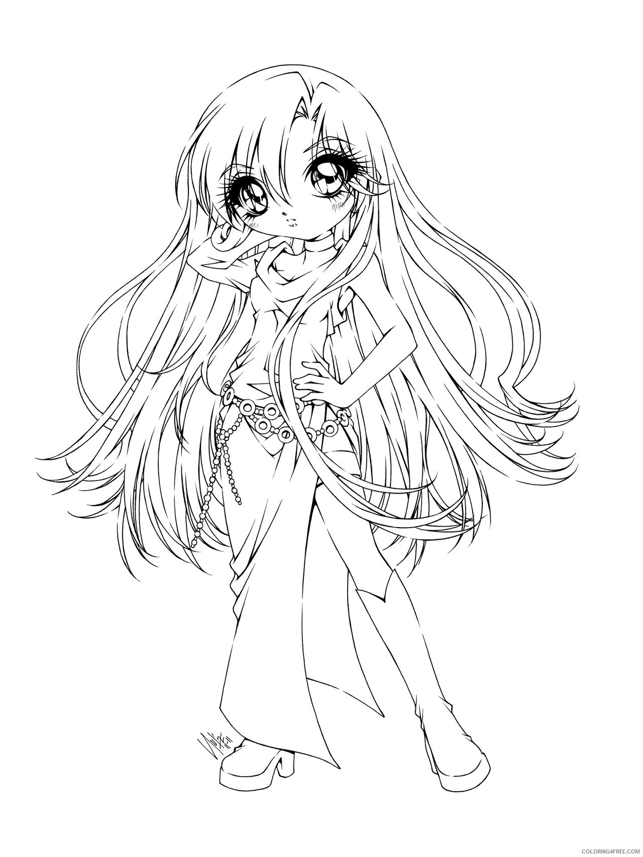 manga coloring pages to print Coloring4free