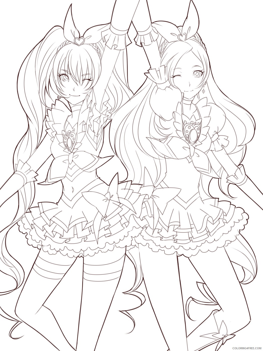 manga girl coloring pages for adults Coloring4free