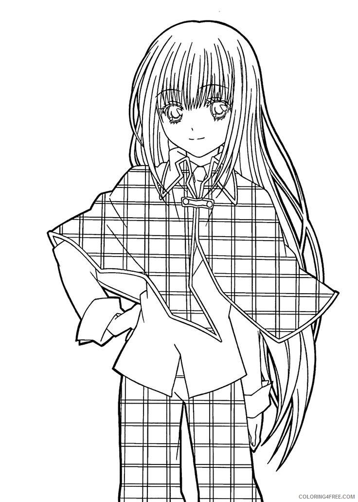 manga girl coloring pages printable Coloring4free