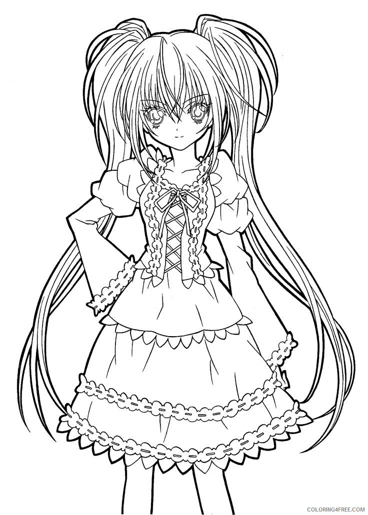 manga girl coloring pages to print Coloring4free