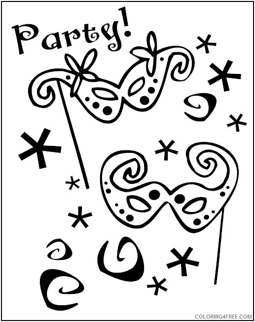 mardi gras coloring pages for kids Coloring4free