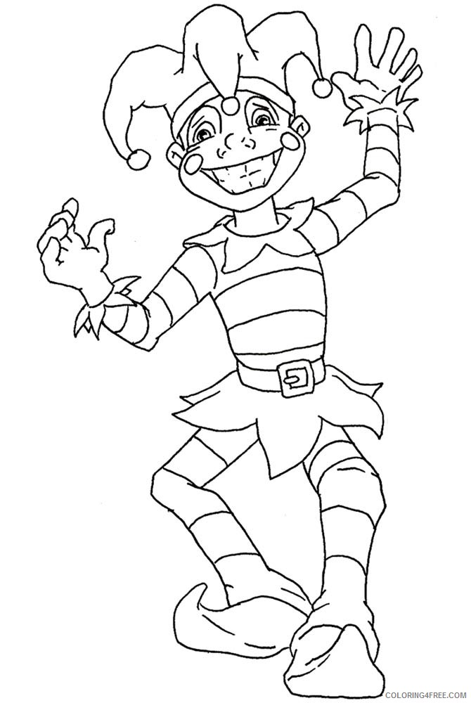 mardi gras coloring pages jester Coloring4free