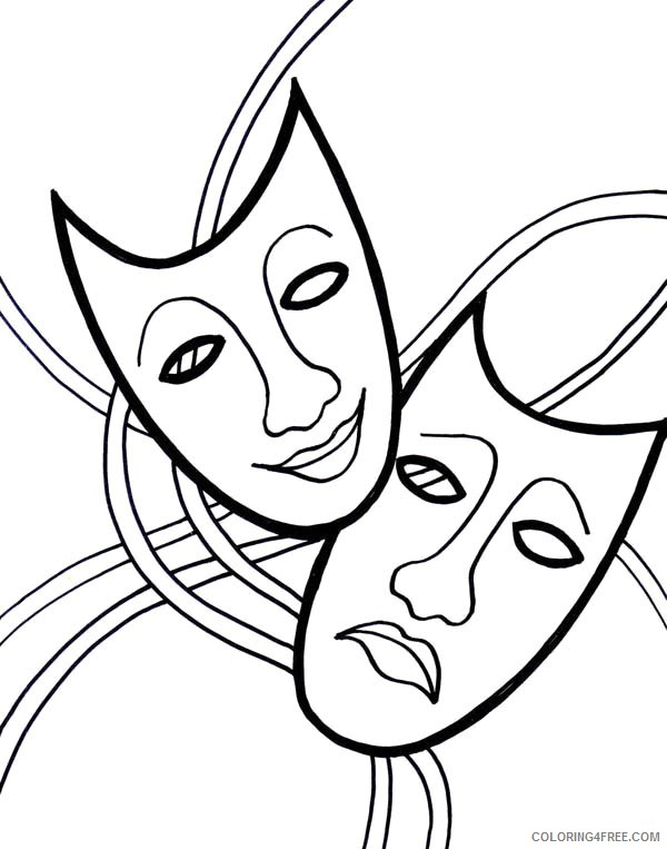 mardi gras mask coloring pages free Coloring4free