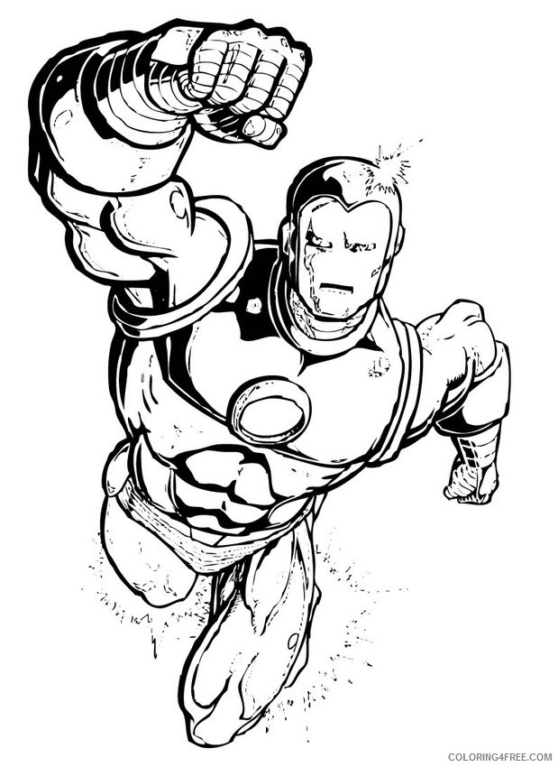 marvel superhero coloring pages iron man Coloring4free