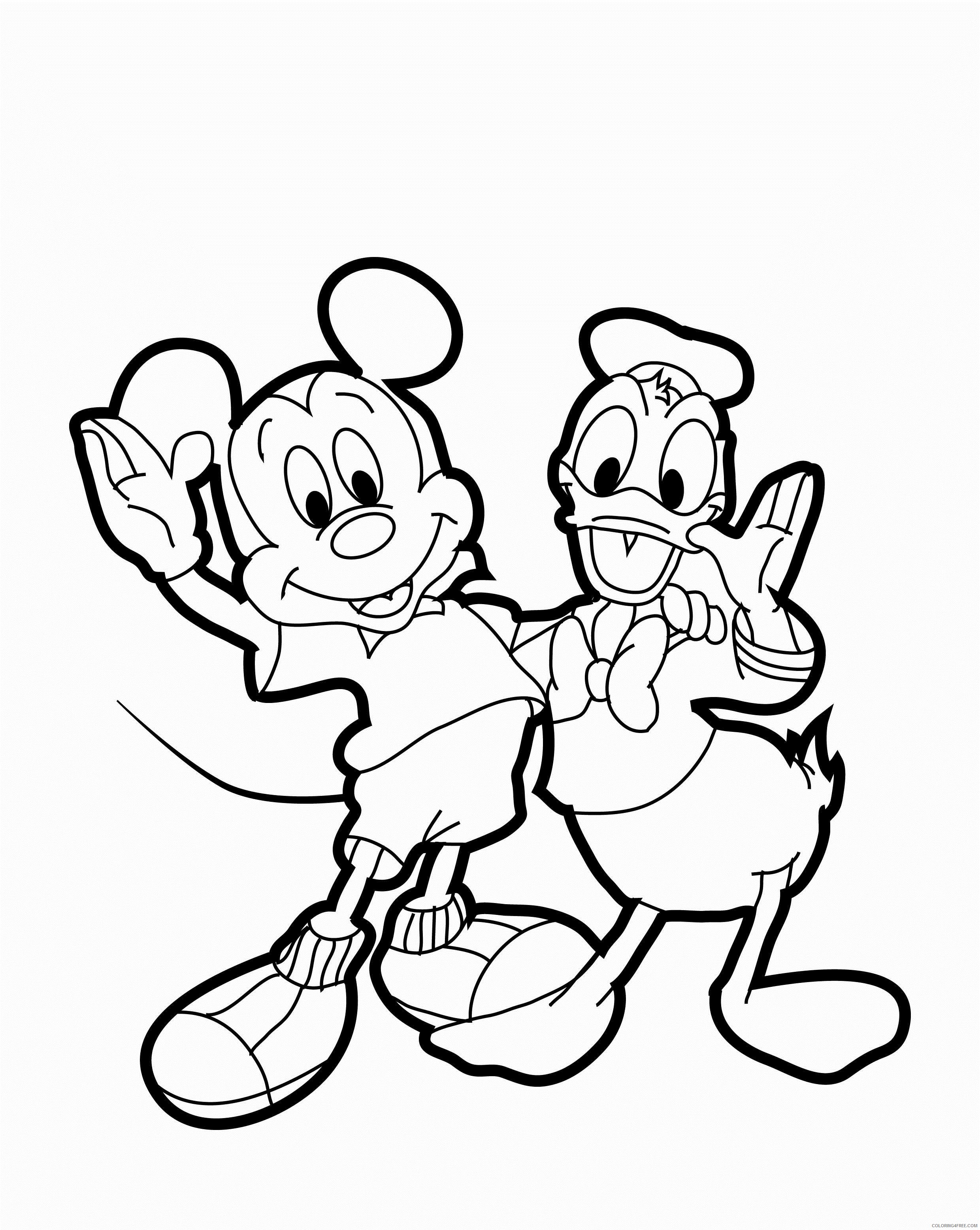mickey mouse coloring pages donald duck Coloring4free
