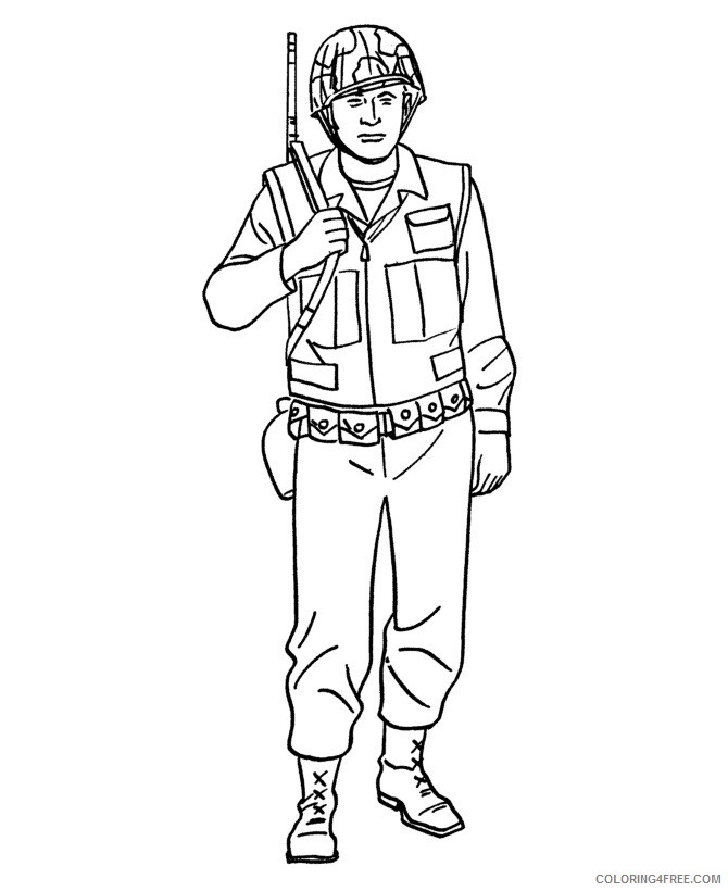 military coloring pages soldier Coloring4free